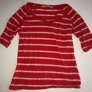 Michael stars original tee stripe top shirt os